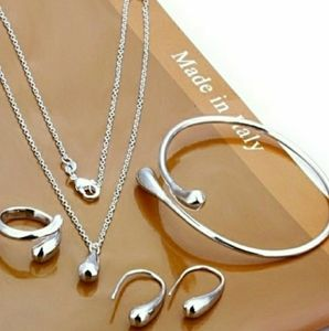 925 Sterling Silver Waterdrop Jewelry Set